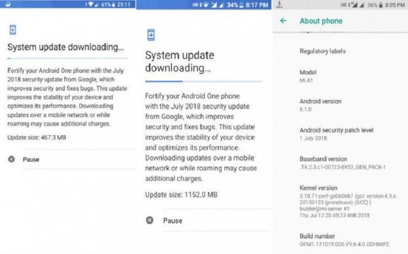 ارائه آپدیت اندروید 8.1 برای گوشی Mi A1 از سر گرفته شد