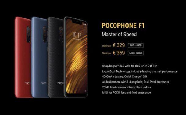 گوشی POCOPHONE F1 وارد اروپا می شود