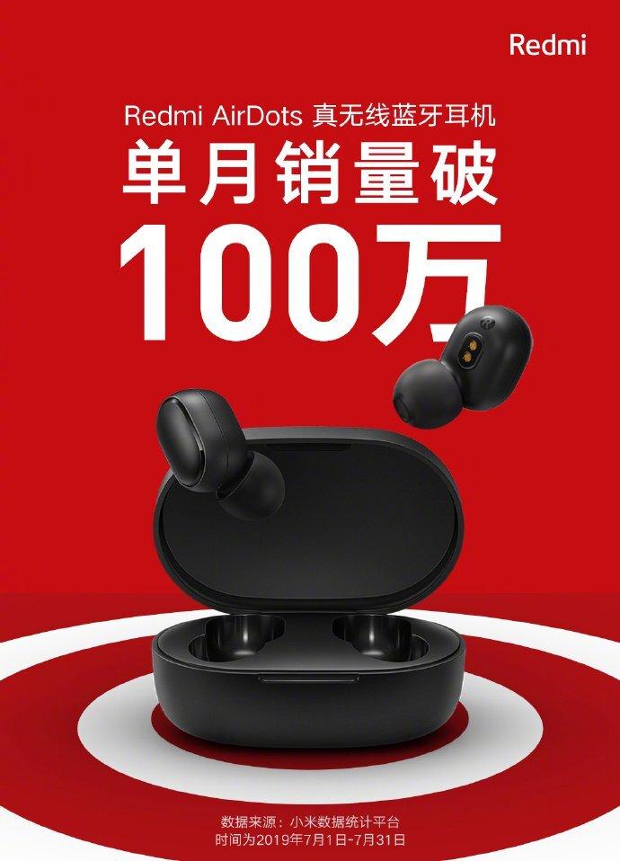 هدفون Redmi Airdots بیش از 1 میلیون فروش را به ثبت رسانید